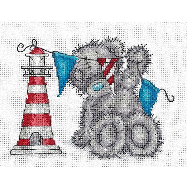 "Набор для вышивания мулине Klart ""Tatty Teddy с маяком"", 17,5х14 см"