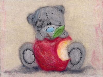 "Набор для валяния Woolla ""Шерстяная акварель"" Татти Тедди с яблочком, 21х15 см"
