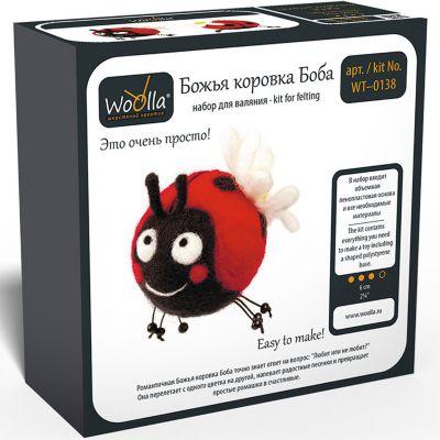 """Набор для валяния Woolla """"Игрушки"""" Божья коровка Боба"""