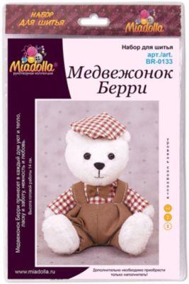 """Набор для шитья игрушек Miadolla """"MiMi Мир"""" Медвежонок Берри"""