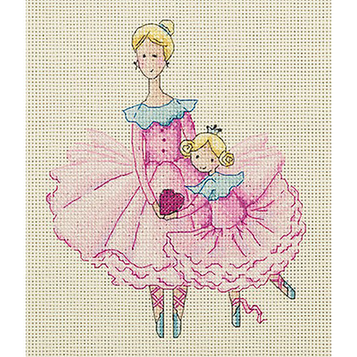 """Набор для вышивания мулине Klart """"Мама и дочка"""", 17х19 см от Klart"""