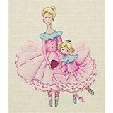 """Набор для вышивания мулине Klart """"Мама и дочка"""", 17х19 см"""