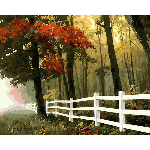 """Картина по номерам на холсте Фрея """"Осенний лес"""", 50х40 см от Фрея"""