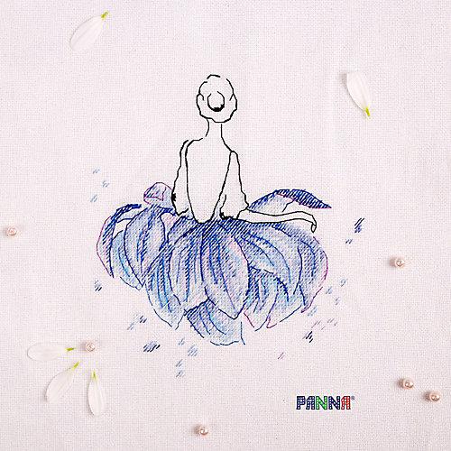 "Набор для вышивания Panna ""Бэкстич"" Балерина. Лотос, 20х20 см от Panna"