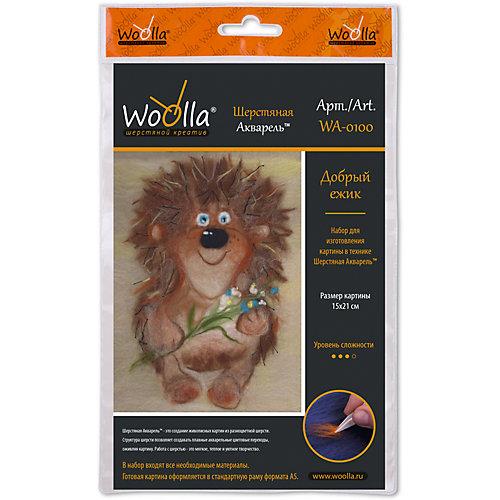 "Набор для валяния Woolla ""Шерстяная акварель"" Добрый ёжик, 21х15 см от Woolla"