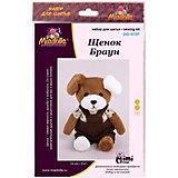 """Набор для шитья игрушек Miadolla """"MiMi Мир"""" Щенок Браун"""