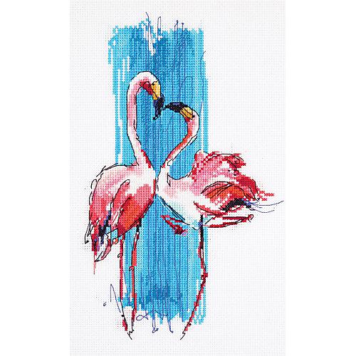 """Набор для вышивания Panna """"Бэкстич"""" Розовые фламинго, 17х25 см от Panna"""