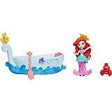 """Игровой набор с мини-куклой Disney Princess """"Маленькое королевство"""" Ариэль и лодка"""