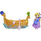 """Игровой набор с мини-куклой Disney Princess """"Маленькое королевство"""" Рапунцель и лодка"""