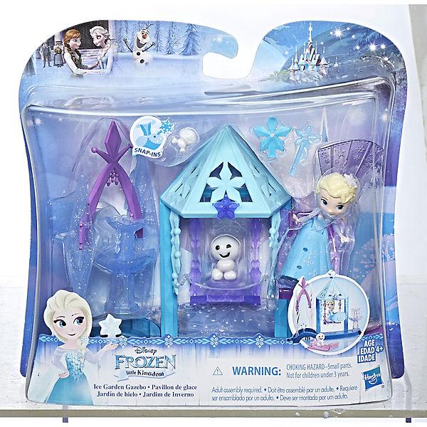 """Игровой набор с мини-куклой Disney Princess Холодное сердце """"Королевские спальни"""" Эльза с домиком"""