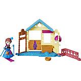 """Игровой набор с мини-куклой Disney Princess Холодное сердце """"Королевские спальни"""" Анна со спа салоном"""