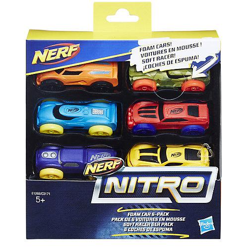 Набор машинок Nerf Nitro вариант 3, 6 штук от Hasbro