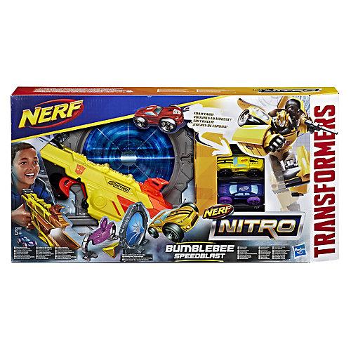 """Пусковое устройтсов Nerf Nitro """"Speedblast"""" Трансформер Бамблби от Hasbro"""
