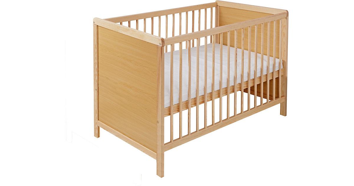 Kinderbett, Kiefer natur, teilmassiv, 60 x 120 cm