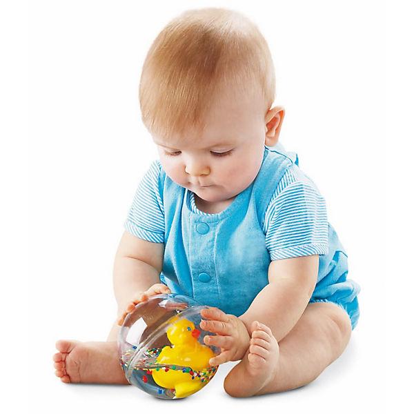 Развивающая игрушка Уточка с плавающими шариками, желтая, Fisher Price