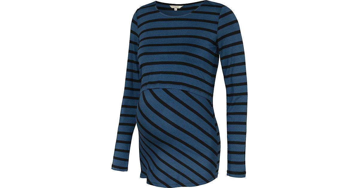 Stilllangarmshirt blau Gr. 34 Damen Kinder