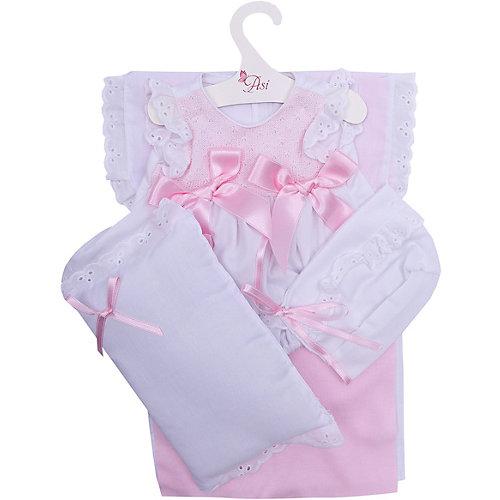 Одежда для кукол Asi Платье и чепчик с одеялом и подушкой 45 см, арт 84 от Asi