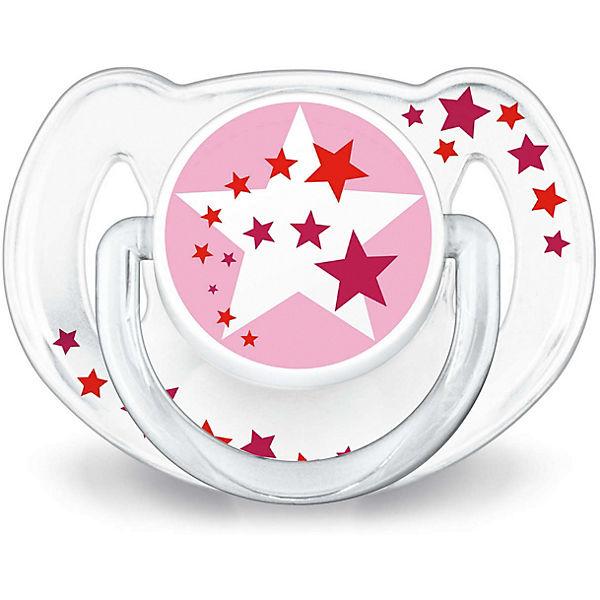 Пустышка силиконовая Philips Avent ночная, 6-18 мес., 2 шт., розовый