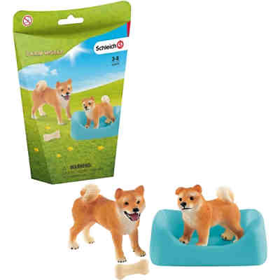 Schleich 42479 Farm World: Shiba Inu Mutter und Welpe