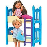 """Игровой набор с мини-куклами Simba """"Evi Love"""" Еви с братиком и двухъярусной кроваткой, 12 см"""