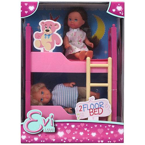"""Игровой набор с мини-куклами Simba """"Evi Love"""" Еви с братиком и двухъярусной кроваткой, 12 см от Simba"""
