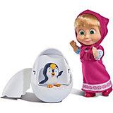 """Мини-кукла Simba """"Маша и Медведь"""" Маша с пингвиненком в яйце, 12 см"""