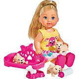 """Игровой набор с мини-куклой Simba """"Evi Love"""" Еви с собачками, 12 см"""
