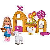"""Игровой набор с мини-куклой Simba """"Evi Love"""" Счастливая ферма Еви, 12 см"""