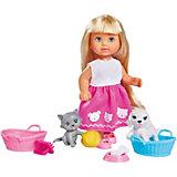 """Игровой набор с мини-куклой Simba """"Evi Love"""" Еви и домашние питомцы, 12 см"""