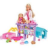 """Игровой набор с куклами Simba """"Steffi Love"""" Мир животных Штеффи и Еви, 35 предметов"""