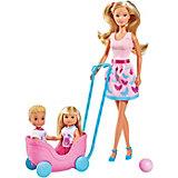 """Игровой набор с куклами Simba """"Steffi Love"""" Весёлая прогулка Штеффи, Еви, Тимми с питомцами"""