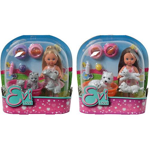 """Игровой набор с мини-куклой Simba """"Evi Love"""" Еви с домашними животными, в ассортименте от Simba"""