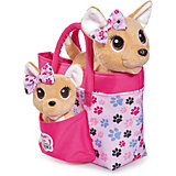 """Плюшевые собачки Simba""""Chi-Chi love"""" Счастливая семья, 2 собачки в сумочке"""