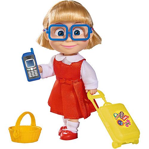 "Мини-кукла Simba ""Маша и Медведь"" Даша с чемоданчиком, корзинкой и телефоном, 12 см от Simba"