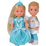 """Игровой набор с мини-куклами Simba """"Evi Love"""" Тимми и Еви - принц и принцесса, 12 см"""