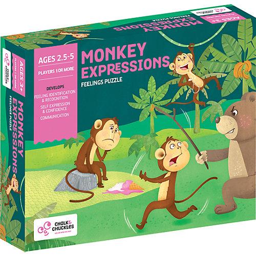 "Настольная игра Chalk&Chuckles ""Эмоции обезьянки"" от Chalk&Chuckles"