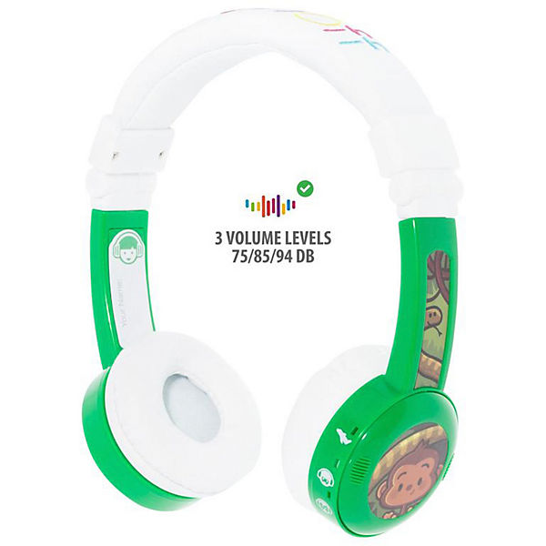 Наушники Buddyphones InFlight Green, зеленые