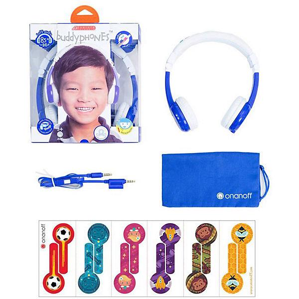 Наушники Buddyphones Explore Foldable Blue, синие