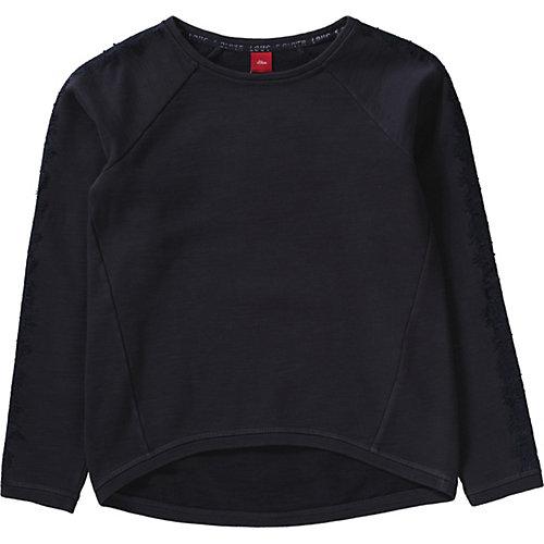 S.Oliver,s.Oliver Sweatshirt cropped mit Spitze Gr. 152/158 Mädchen Kinder | 04055268660905