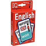 """Английские неправильные глаголы """"Умные игры с картами"""" Уровень 1, красный"""