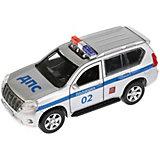 """Машинка Технопарк """"Toyota"""" Land Cruiser Prado Полиция, 12 см"""