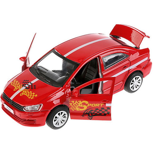 "Машинка Технопарк ""Volkswagen Polo"" Спорт, 12 см от ТЕХНОПАРК"