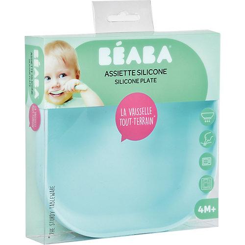 Тарелка из силикона Beaba Silicone suction plate, голубой - голубой от BÉABA