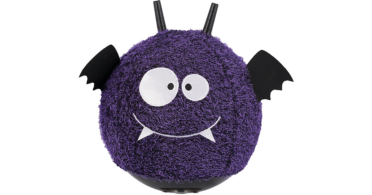 JOHN · Little Monster Hüpfball mit Plüschüberzug