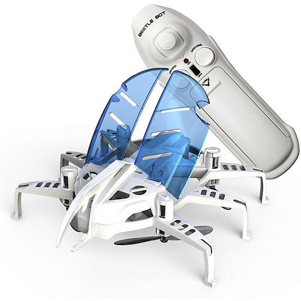 """Радиоуправляемый робот Silverlit """"Летающий жук"""", белый с синими крыльями"""