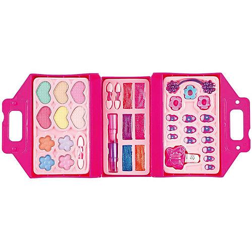 Детская декоративная косметика Bondibon Eva Moda Косметичка-чемодан, раскладная, розовая от Bondibon