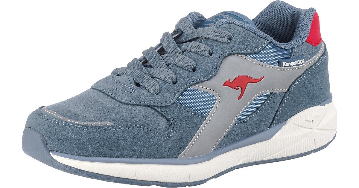 Sneakers Low Kiroo Weite M Kinder blau/rot Gr. 31  Kinder