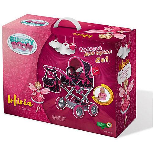 Коляска для кукол Buggy Boom Infinia, розовая от Buggy Boom