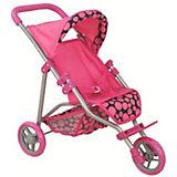 Коляска для кукол Buggy Boom Nadin, розовая