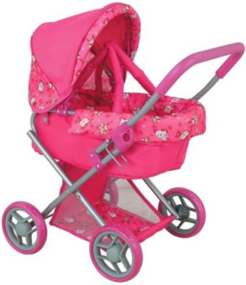 Коляска для кукол Buggy Boom Infinia, розовая